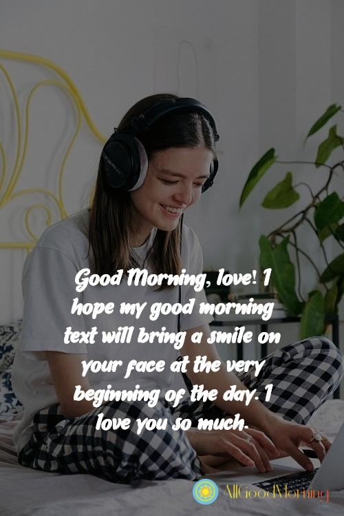 good morning quotes for her english