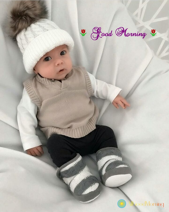 good morning images of cute little babies