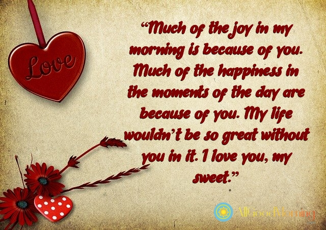 good morning message for him in english