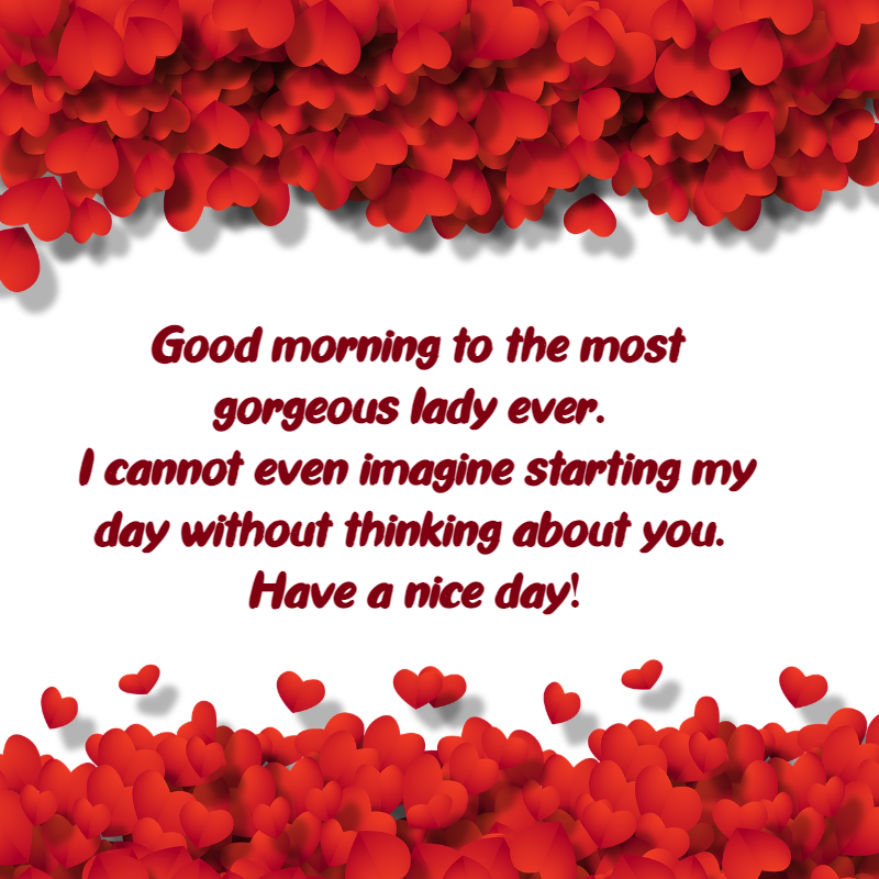 romantic morning text for her
