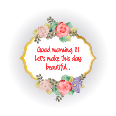 good morning flowers and birds