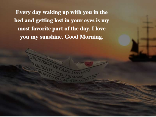 a good morning message for her