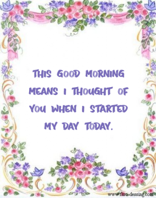 good morning message for him before going to work