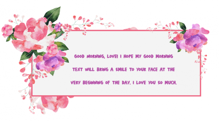 good morning love message for my love