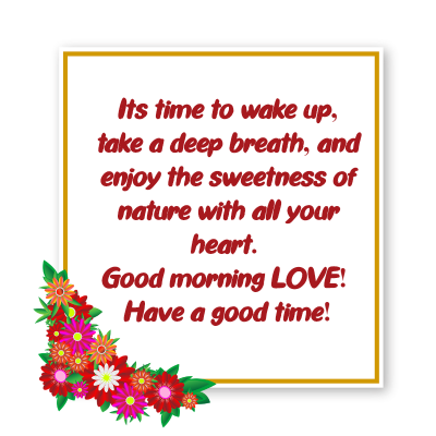 morning msg for my love