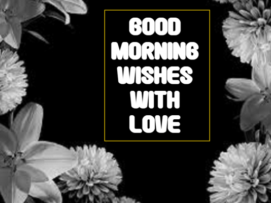 good morning flowers for my love